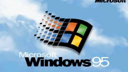 Die Symbolik zu Zeiten von Windows 95: leicht bewölkter Himmel.