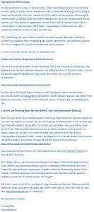 Mit dieser Mail informierte Pollin seine Kunden über das Datenleck.